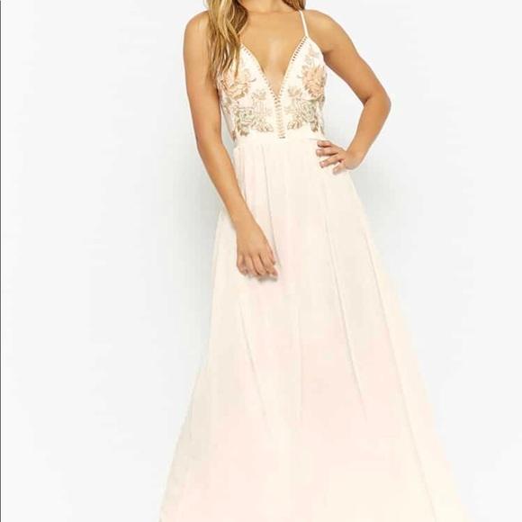 Macys Dresses Gorgeous Ivory And Pastel Formal Dress Poshmark